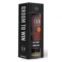 Kit shampoing et crème de coiffage Groom to win American crew
