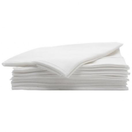 Lot de 50 serviettes jetables blanches