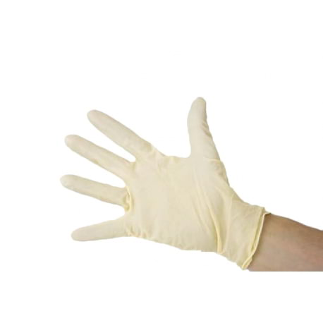 Gants en latex poudré naturel